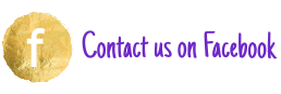 Facebook Icon in purple with the call to action Contact us on Facebook